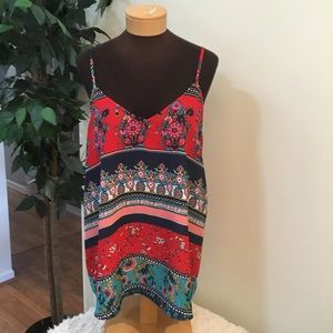 Maurices XL floral adjustable strap tank NWT